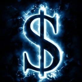 Lightning dollar sign